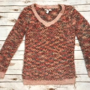 LC Lauren Conrad Brown Fuzzy Sweater